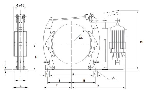Диско-колодочные (барабанные) тормоза Westcar