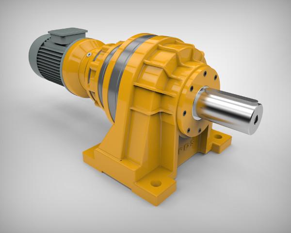 Планетарный мотор-редуктор PDS на лапах с электродвигателем и цилиндрическим валом