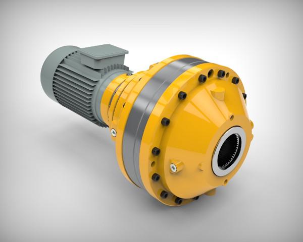Планетарный сверхлегкий мотор-редуктор PDS с полым шлицевым валом