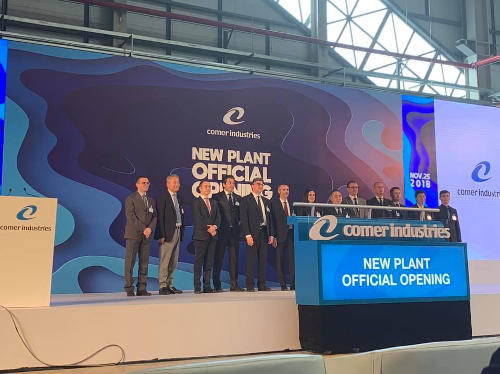 Comer Indistries открывает новые производственные площади в Китае