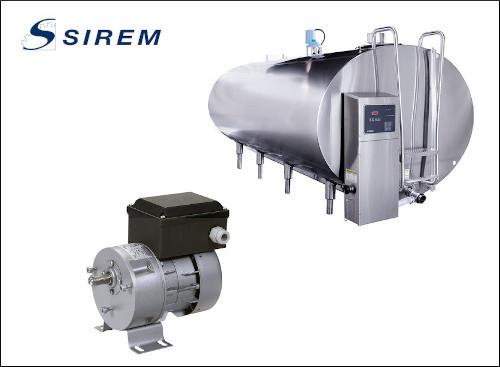 Мотор-редукторы Sirem для перемешивания молока в танках с охлаждением